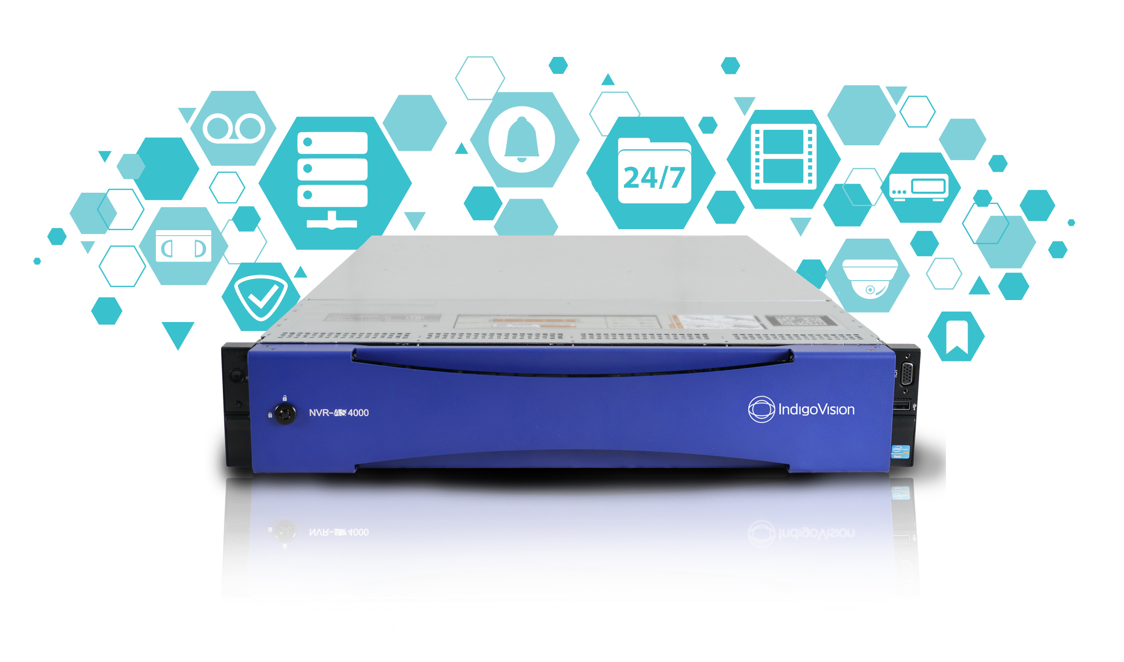 IndigoVision's Large Enterprise NVR-AS 4000 can now record up to 800 cameras!