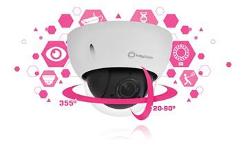 IndigoVision's nouveau mini-dôme HD GX à panoramique horizontal/vertical. Une caméra plus polyvalente que vous ne le pensiez.