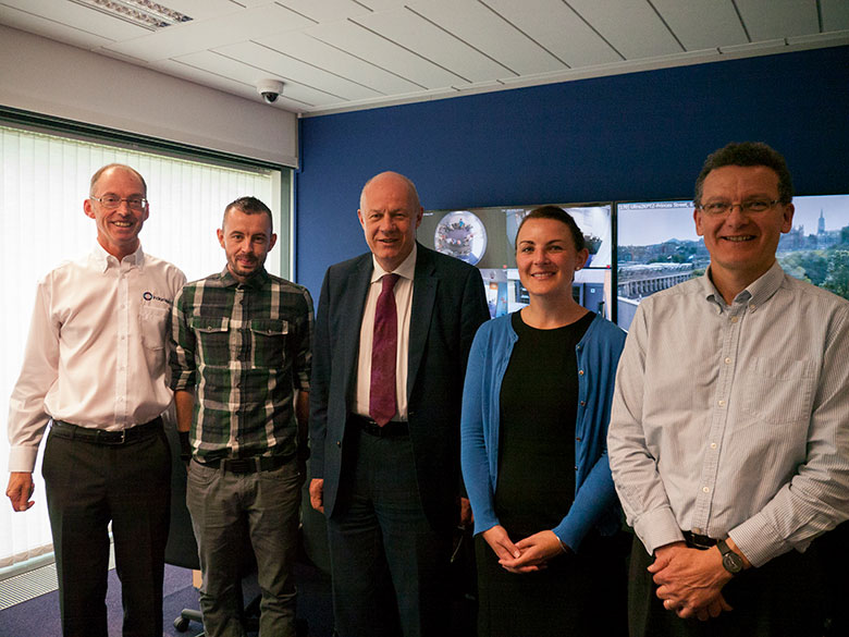 UK First Secretary of State, Damian Green, visits IndigoVision Technology HQ August 10, 2017