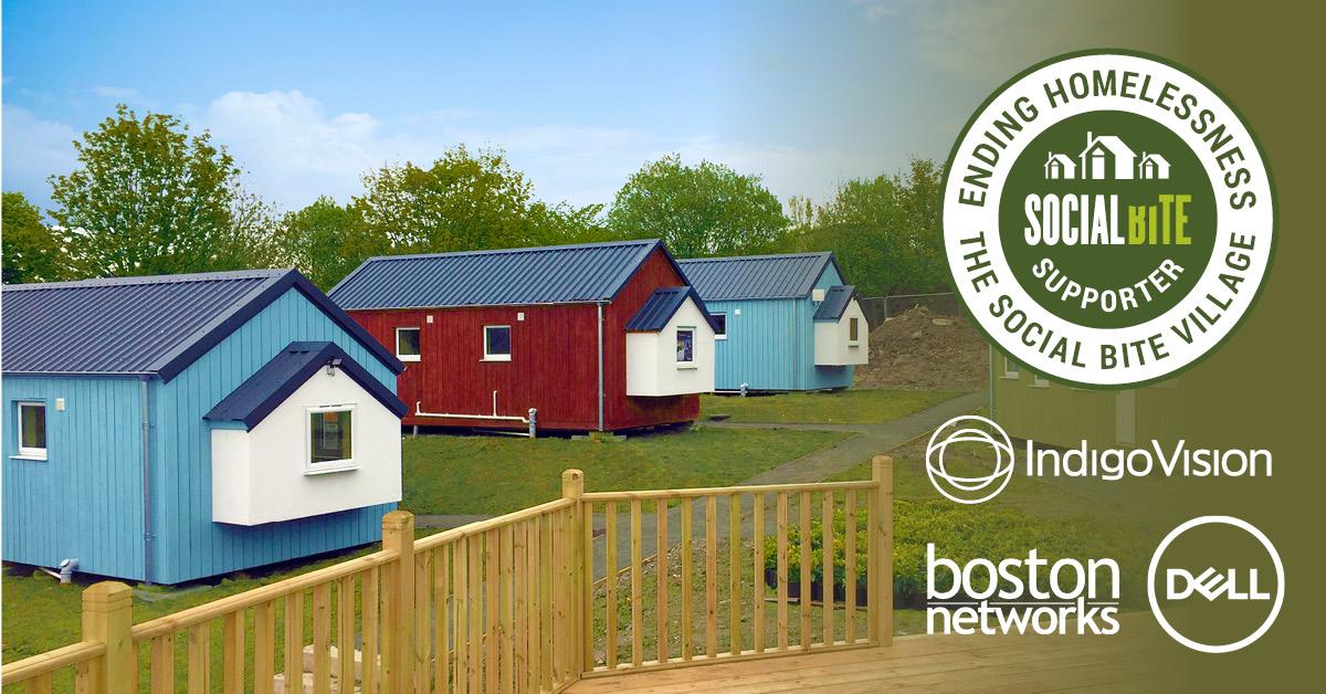 IndigoVision, Boston Networks und Dell Technologies kooperieren mit Social Bite, um die Obdachlosigkeit in Schottland zu bekämpfen
