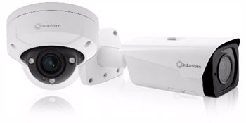 IndigoVision's all NEW BX Minidome and BX Bullet cameras, designed to keep you and your budget safe
